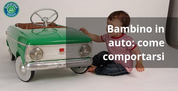 Regole da rispettare per portare bambini in auto