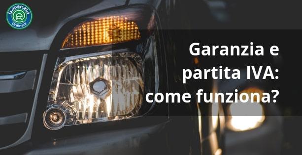 garanzia auto usata acquistata con partita iva