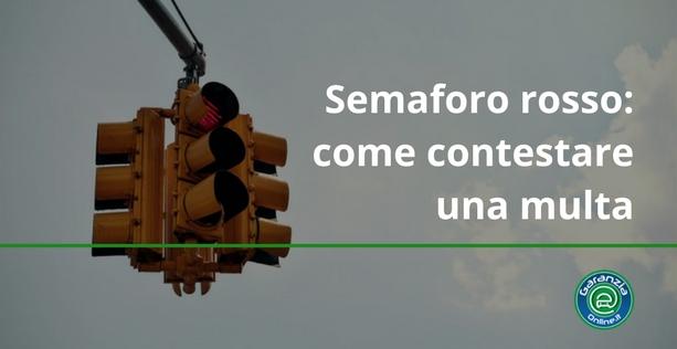 contestare una multa per semaforo rosso