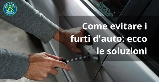 Come evitare il furto auto: 7 consigli che funzionano
