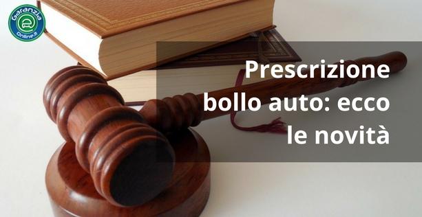 Prescrizione bollo auto: quali sono i termini?