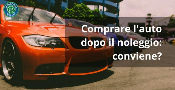 conviene comprare un'auto usata dopo il noleggio