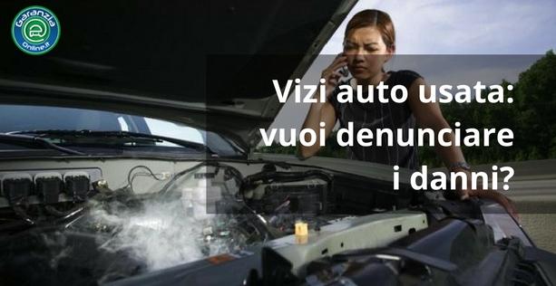 Lettera di denuncia per vizi di un'auto usata
