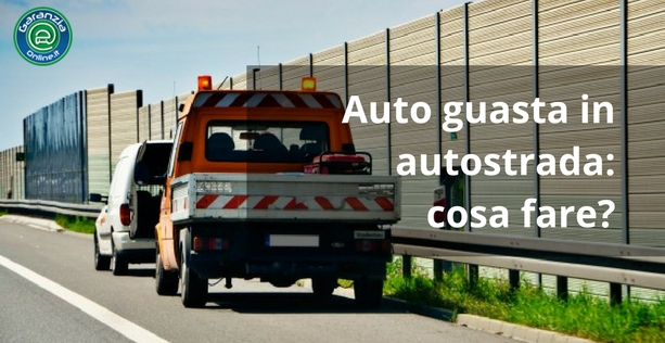 Auto in panne in autostrada