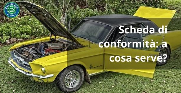 Scheda conformità auto