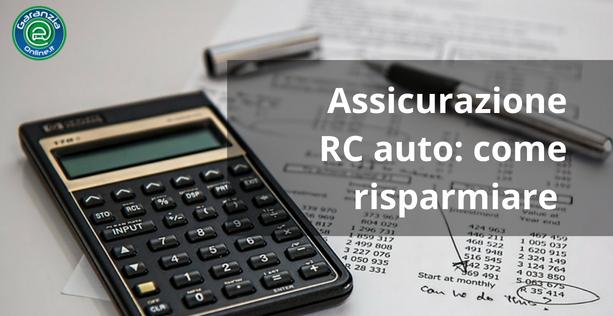 Come risparmiare sull'assicurazione rc auto