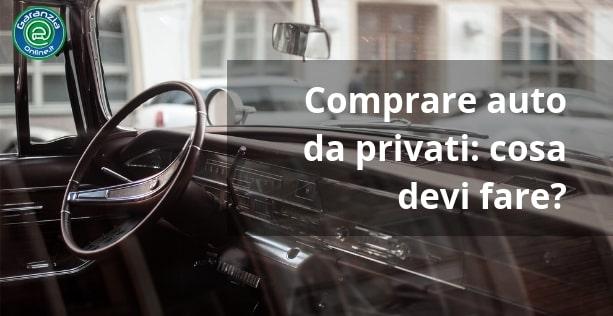 procedura d'acquisto di un'auto usata da privato