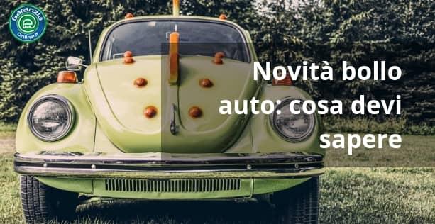 Novità e scadenze per il bollo auto 2019