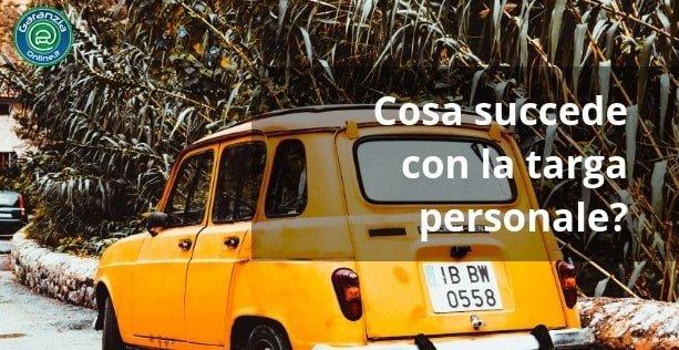 targa personale auto