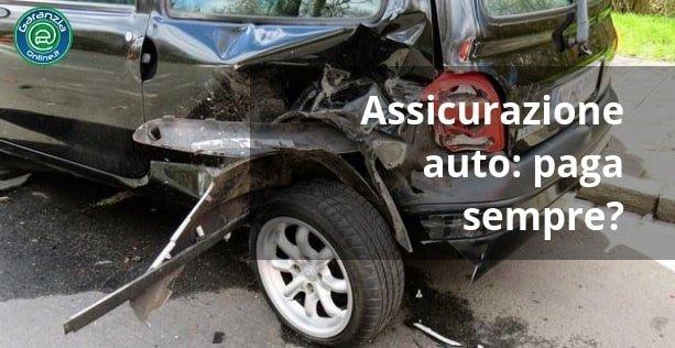 quando l'assicurazione auto non paga