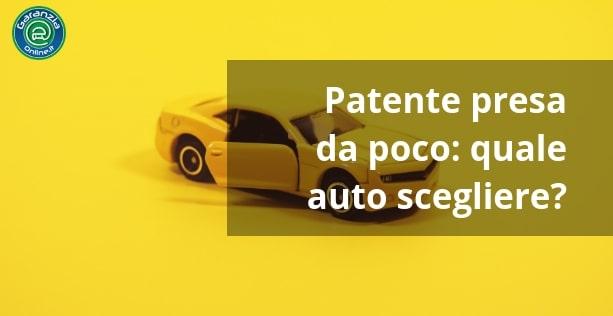 Come scegliere auto per neopatentati