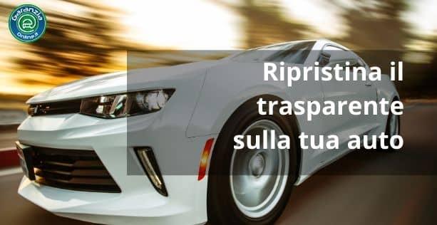 ripristinare vernice trasparente auto