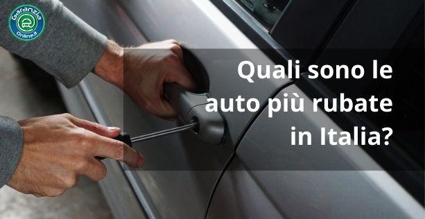 Quali sono le auto meno rubate in Italia?